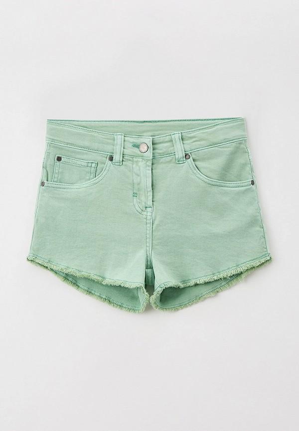 джинсовые шорты stella mccartney для девочки, зеленые