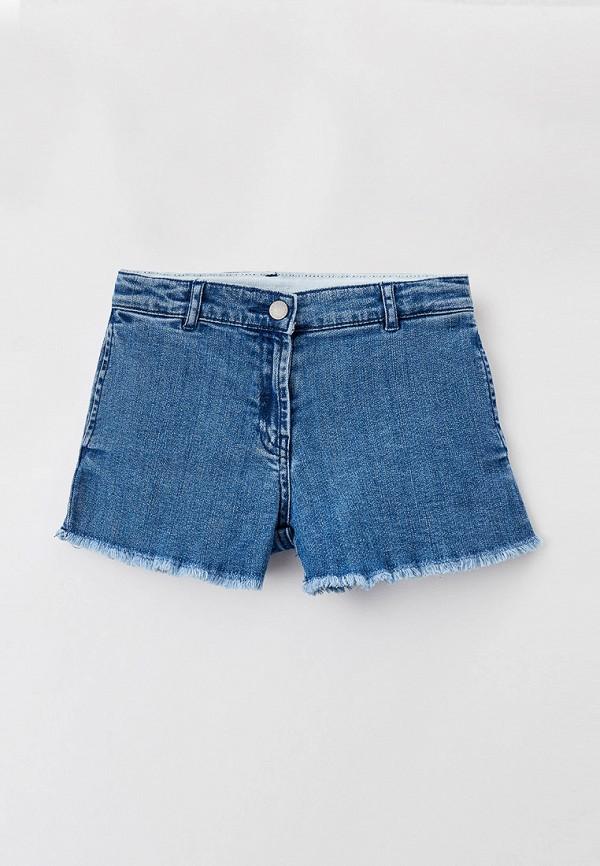 джинсовые шорты stella mccartney для девочки, синие