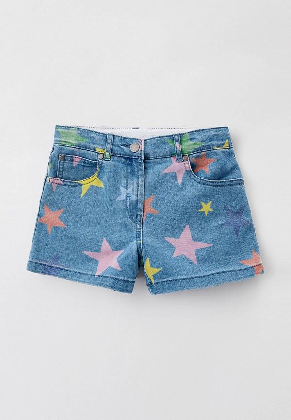 джинсовые шорты stella mccartney для девочки, голубые
