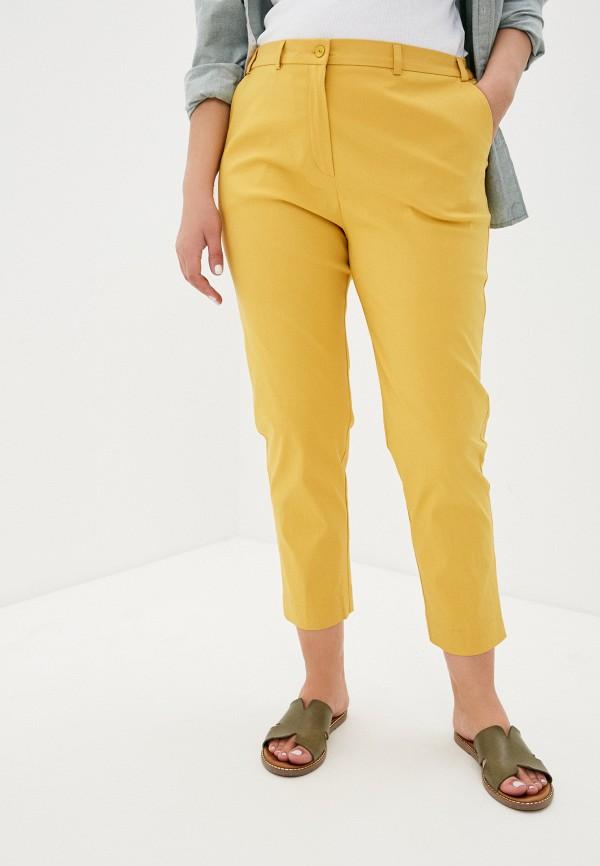 женские прямые брюки svesta, желтые