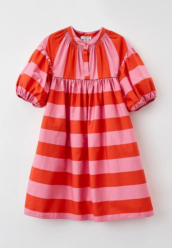 повседневные платье stella mccartney для девочки, разноцветное