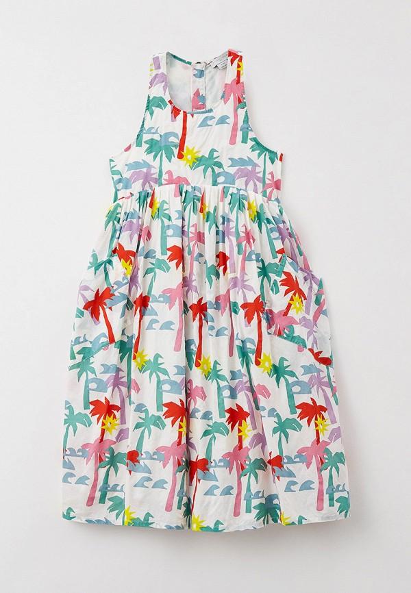 Платье Stella McCartney Kids бежевого цвета