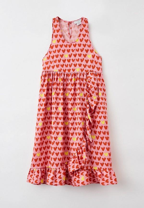 Платье Stella McCartney Kids розового цвета