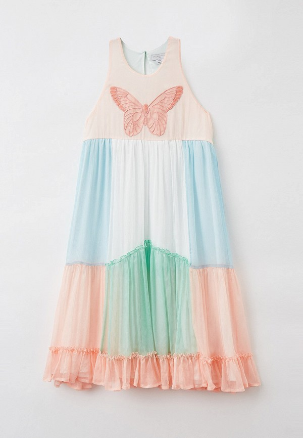нарядные платье stella mccartney для девочки, разноцветное