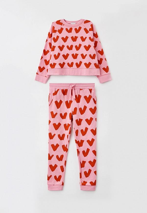 спортивный костюм stella mccartney для девочки, розовый