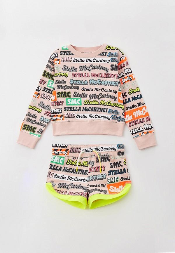 спортивный костюм stella mccartney для девочки, бежевый