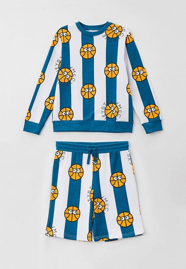 спортивный костюм stella mccartney для мальчика, бирюзовый