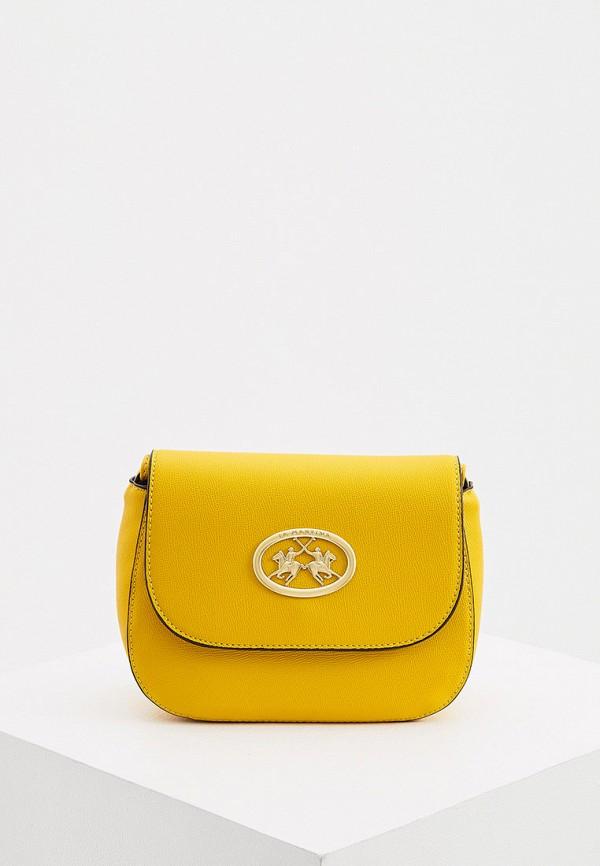 женская сумка la martina, желтая