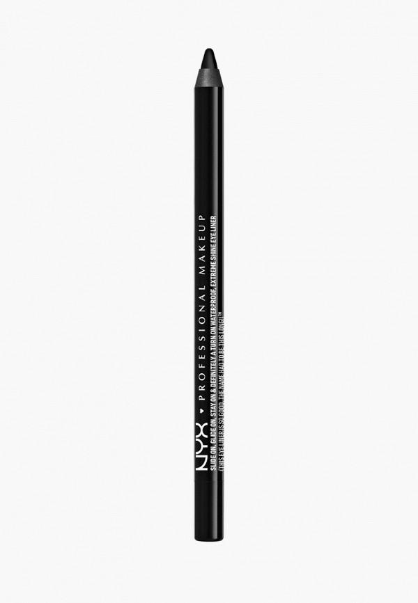 женский карандаш для глаз nyx professional makeup, черный