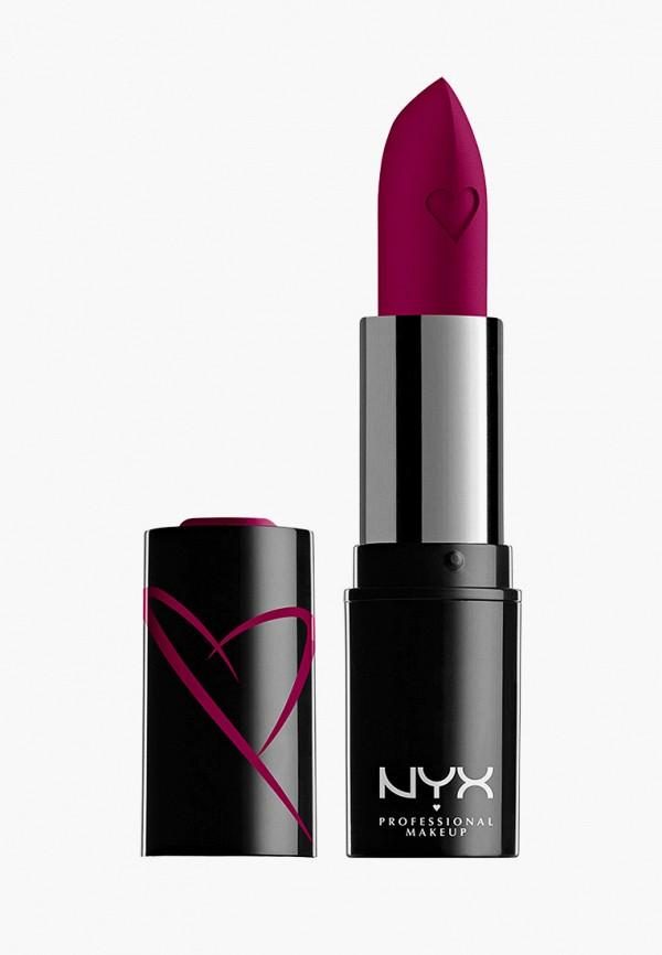 женская помада nyx professional makeup, фиолетовая