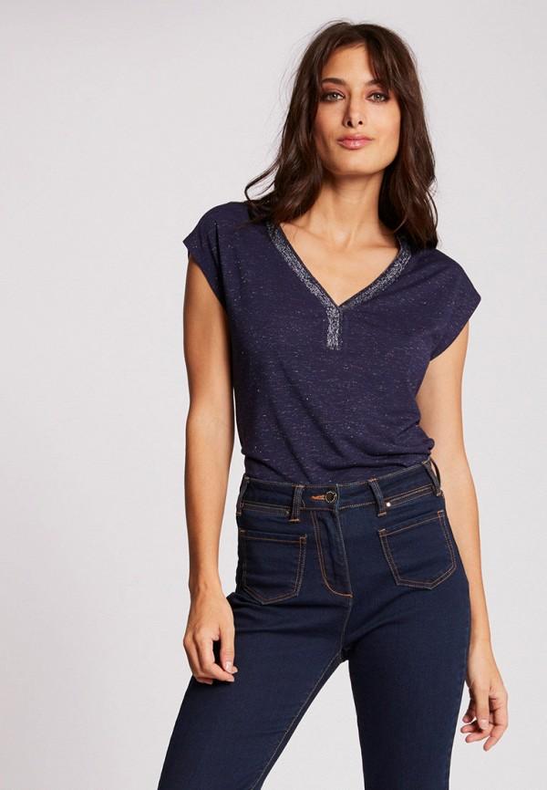 женская футболка morgan, синяя