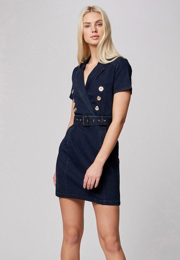 женское джинсовые платье morgan, синее