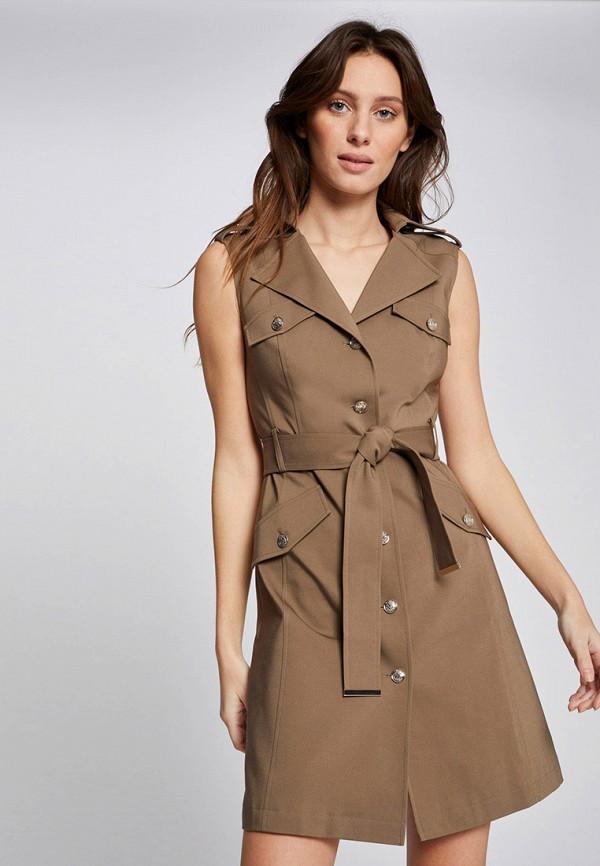 женское повседневные платье morgan, бежевое