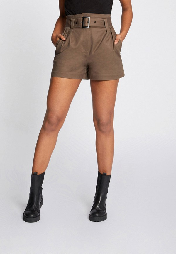 женские повседневные шорты morgan, бежевые