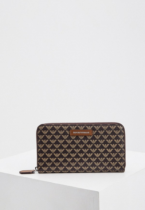 женский кошелёк emporio armani, коричневый