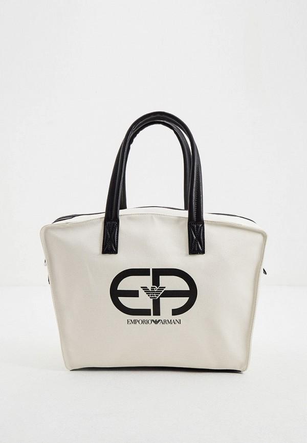 мужская дорожные сумка emporio armani, бежевая