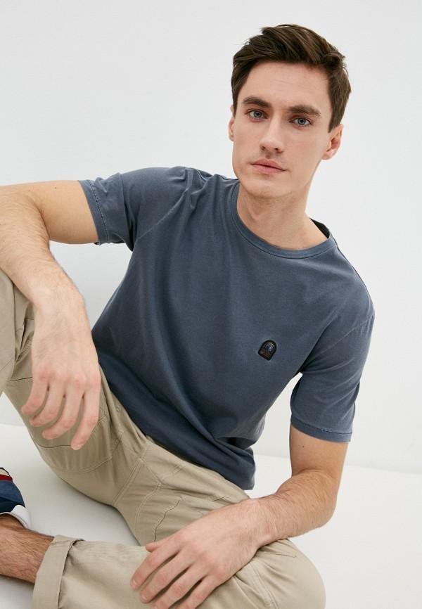 мужская футболка parajumpers, серая
