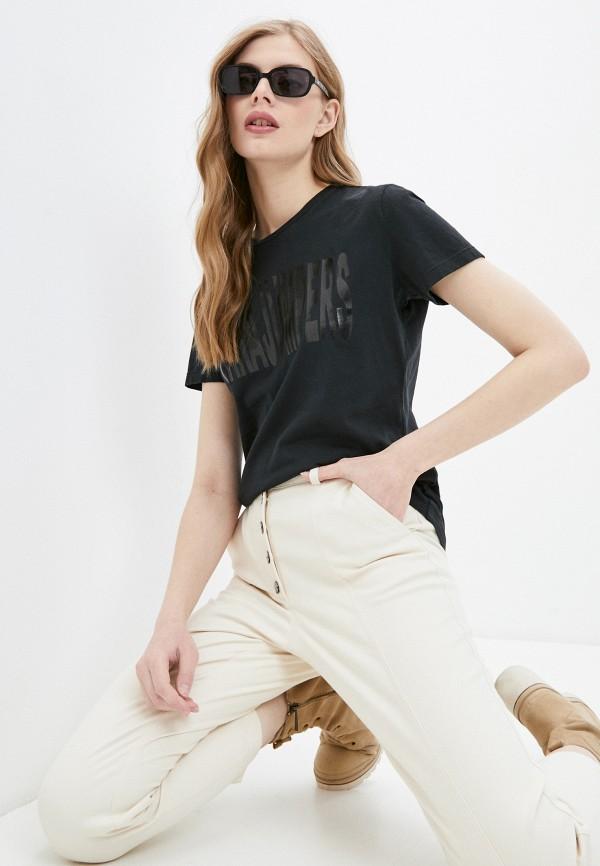 женская футболка parajumpers, черная
