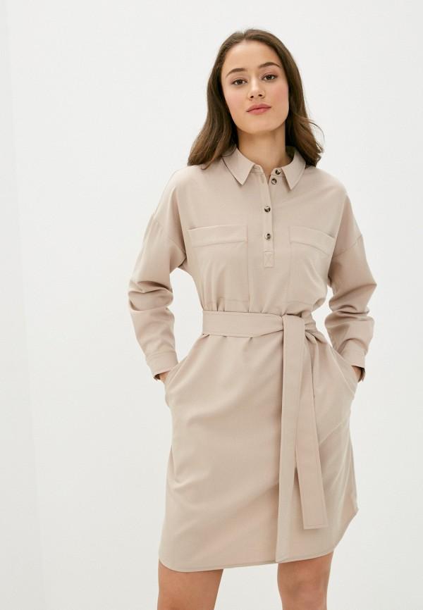 женское платье shartrez, бежевое