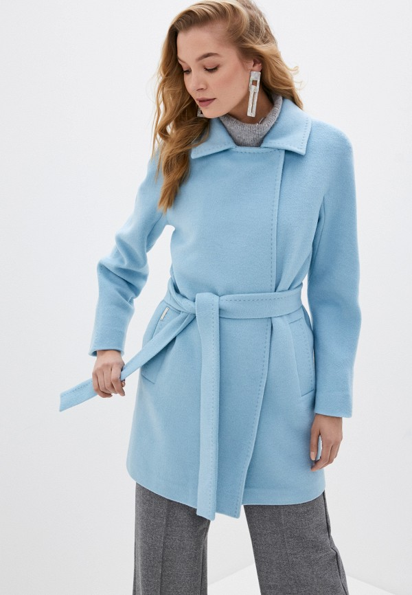 женское пальто shartrez, голубое