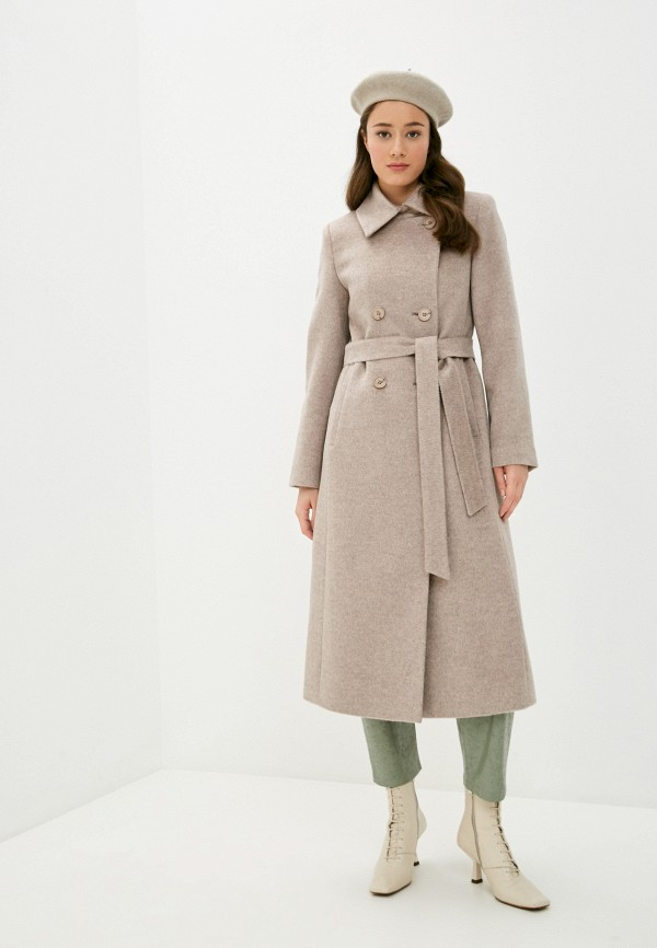 женское пальто shartrez, бежевое