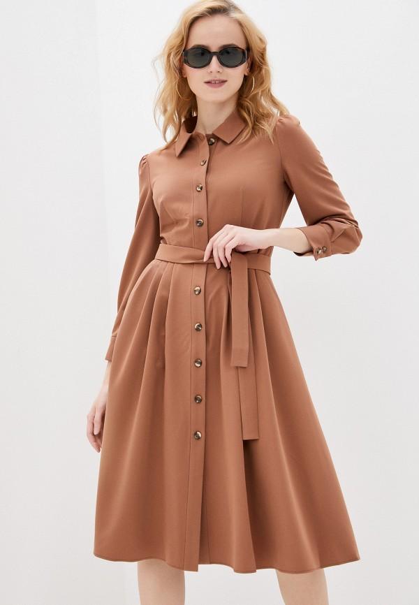 женское платье shartrez, коричневое