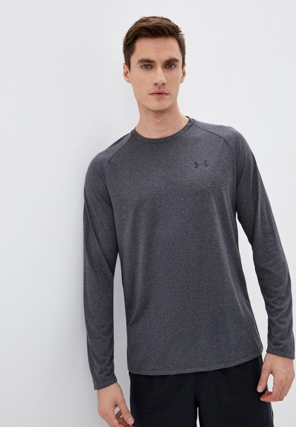 мужской лонгслив under armour, серый
