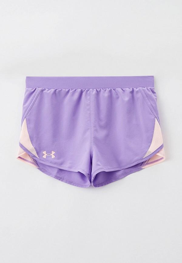 спортивные шорты under armour для девочки, фиолетовые
