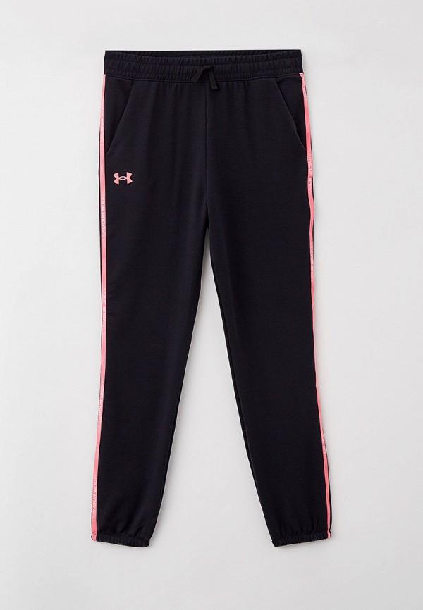 спортивные брюки under armour для девочки, черные