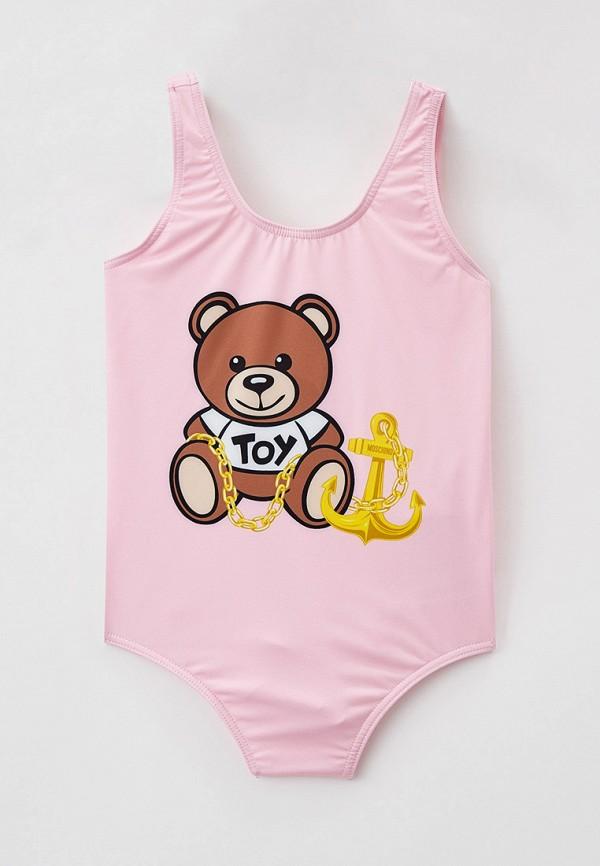 купальник moschino kid для девочки, розовый
