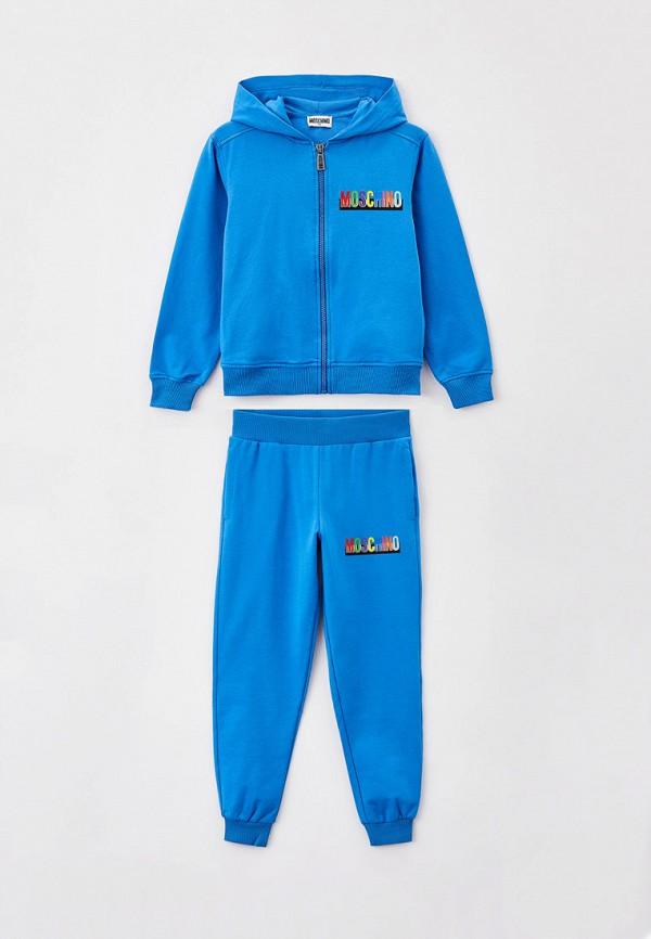 спортивный костюм moschino kid для мальчика, голубой