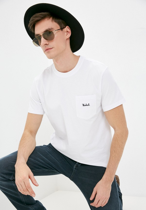 мужская футболка woolrich, белая