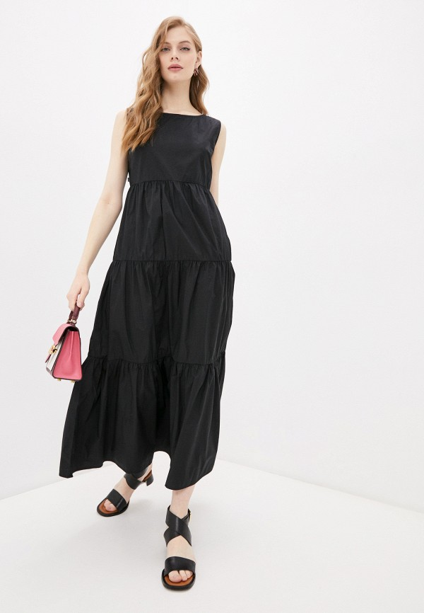женское повседневные платье woolrich, черное
