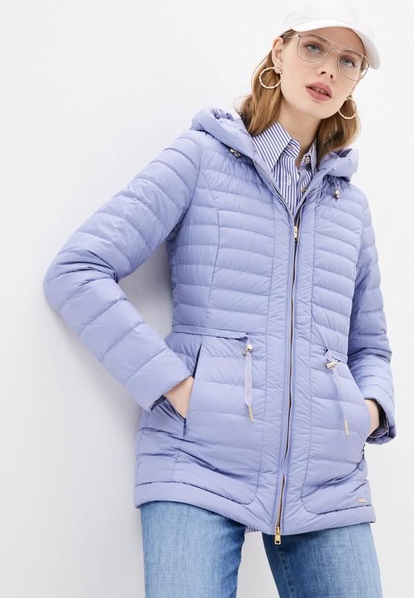 женская куртка woolrich, голубая
