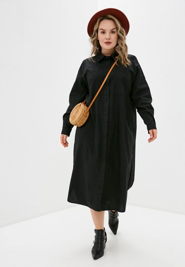 женское платье vero moda curve, черное