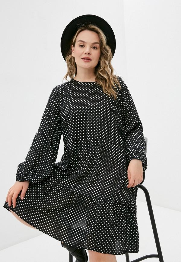 женское повседневные платье vero moda curve, черное