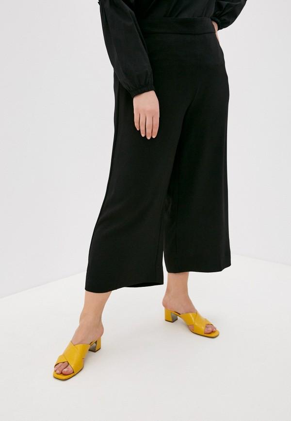 женские брюки клеш vero moda curve, черные
