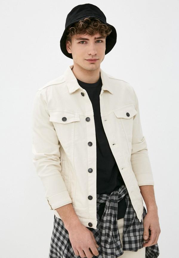 мужская джинсовые куртка produkt, бежевая