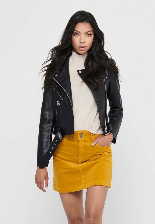 женская куртка косухи only, черная