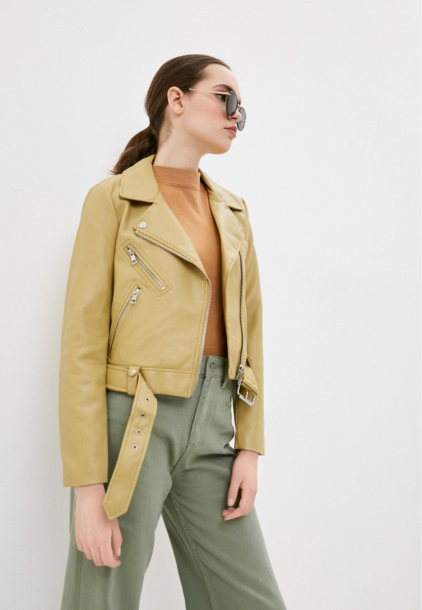 женская куртка косухи only, хаки