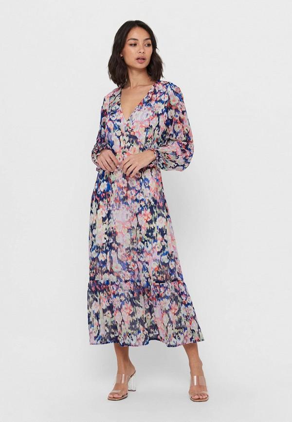женское платье only, разноцветное