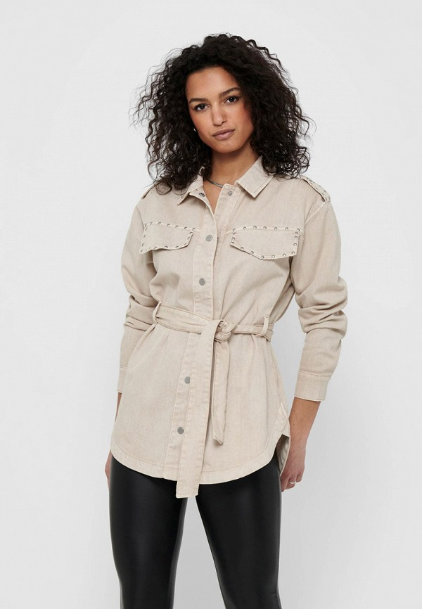 женская легкие куртка only, бежевая