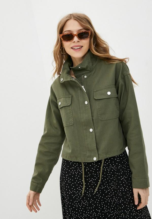 женская джинсовые куртка jacqueline de yong, хаки