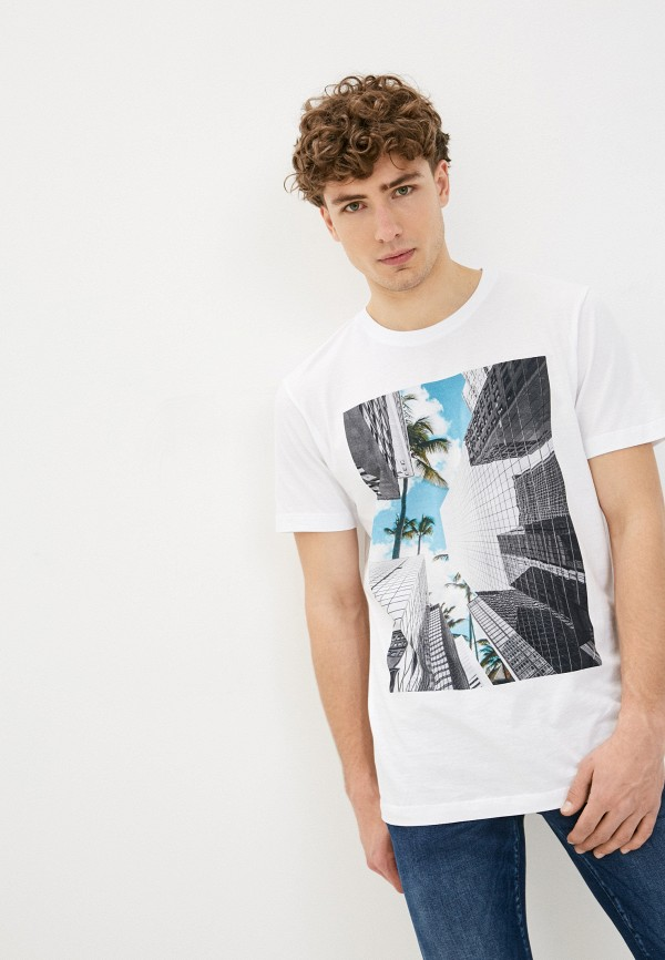 мужская футболка selected homme, белая
