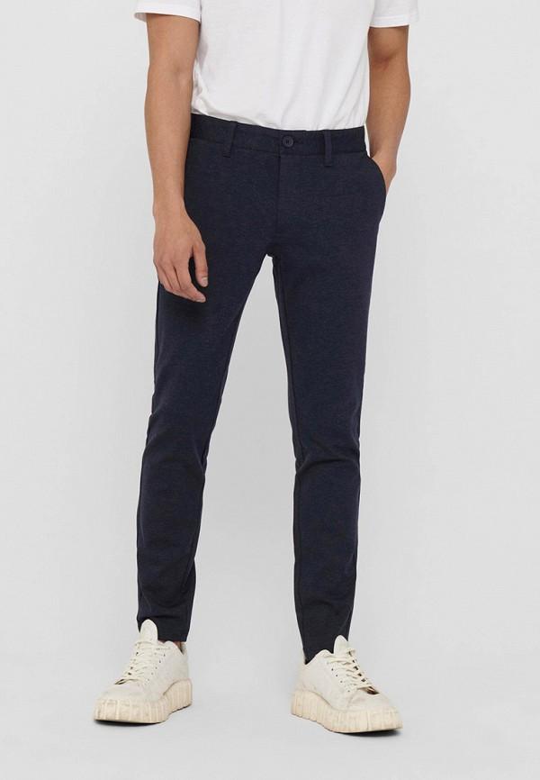 мужские повседневные брюки only & sons, синие