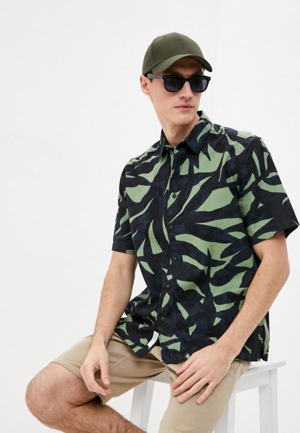 мужская рубашка с коротким рукавом only & sons, зеленая