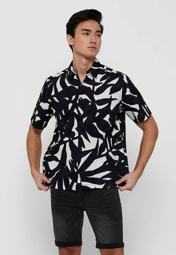 мужская рубашка с коротким рукавом only & sons, разноцветная