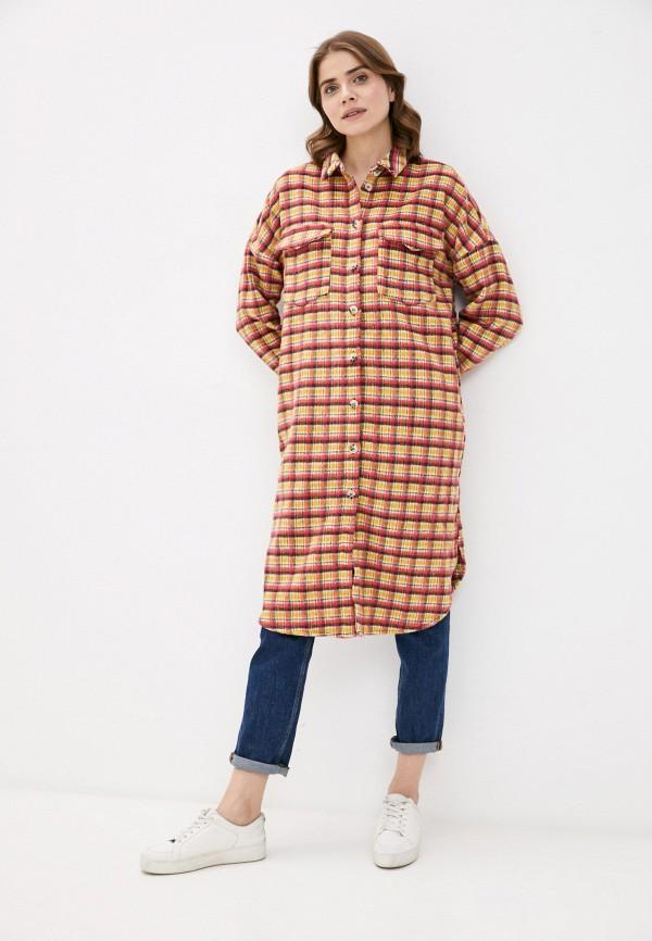 женское пальто noisy may, разноцветное