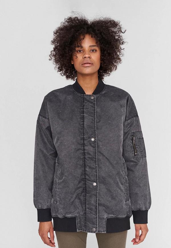женская куртка noisy may, серая