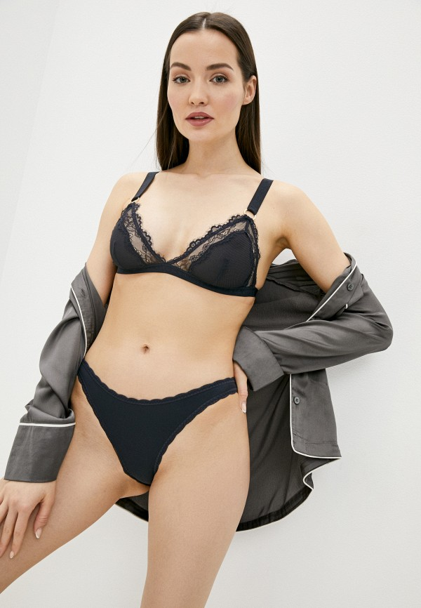 женские трусы-слипы stella mccartney underwear, синие